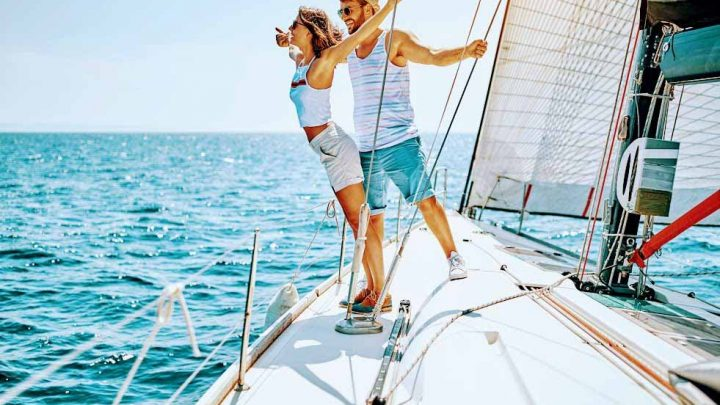 Долгожданное свидание на яхте