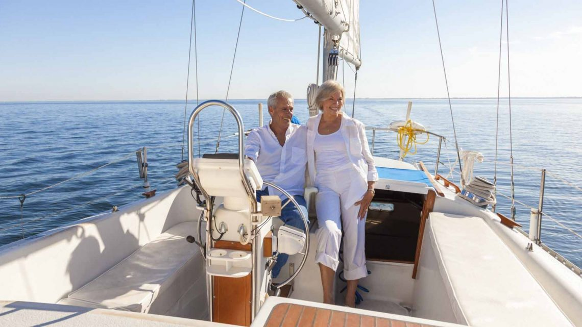 Семейное фото на яхте